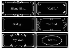 Silent Film Dialog Template Vector