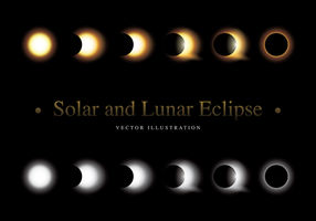 Solar and Lunar Eclipse Vector