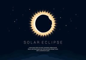 Fondo del vector del eclipse solar