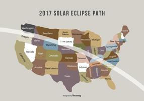 Augusti 2017 Solar Eclipse Path Map
