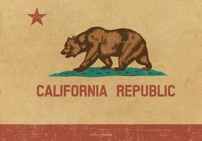 Grunge Flag of California