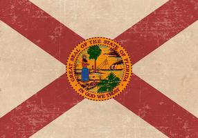 Ancien drapeau grunge de la Floride
