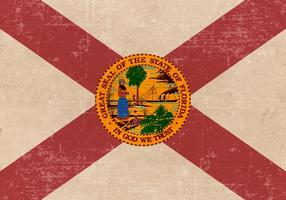 Gammal grunge flagga i Florida