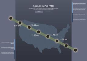 Fri US Solar Eclipse Path Map Illustration
