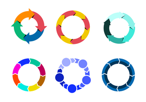 Vetor colorfull lifecycle
