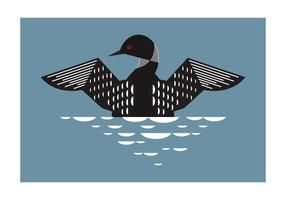 Geometric Loon Bird Background Vector Illustration