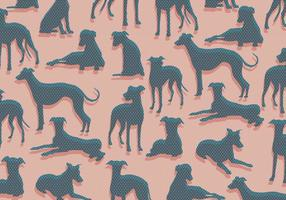 Whippet Pattern Vector