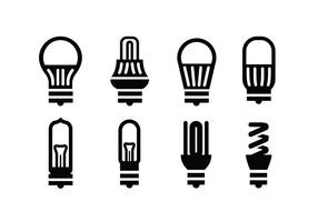 Bulb vector icons