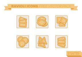 Paquet vectoriel de raviolis gratuit
