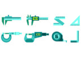 Set Of Blue Tool Vector Icons