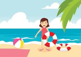 vettore libero della spiaggia del innertube