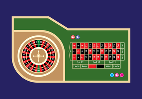 Vector de mesa de ruleta de casino