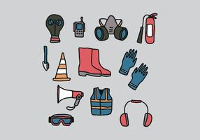 Colorful Protective Equipment vector