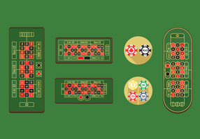 Roulette Table Free Vector Pack