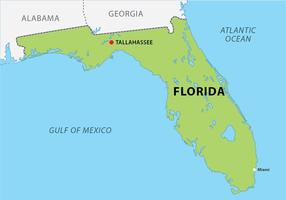 Florida Map with Capitol Vector