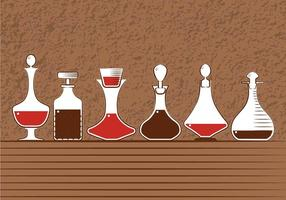 Decanter vector set