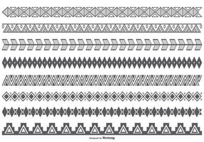 Vector Ethnic Style Border Shapes