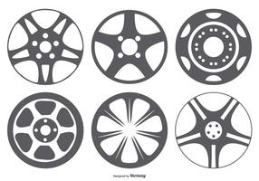 Hub Cap Vector Form Collection