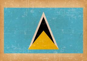 Grunge Flag of Saint Lucia vector