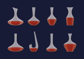 Klassieke Glass Decanter vector
