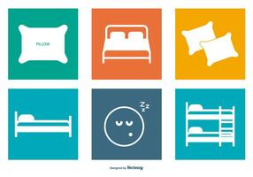 Bedding Vector Icon Collection