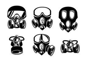 Respirador Blanco Negro Vector