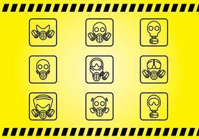 Vecteurs d'icônes respiratoires