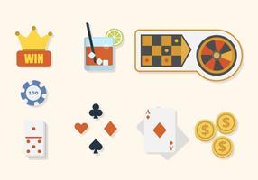 Vecteurs de casino plat