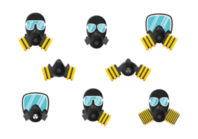 Respirador Iconos Vector