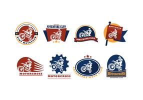 Gratis Motor Cross Logo Vector