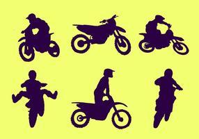 Motocross silueta vector libre