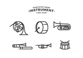 Marching Band Instrument Gratis Vector