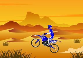 Dessert Motocross Gratis Vector