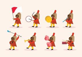 Dog Marching Band Vector