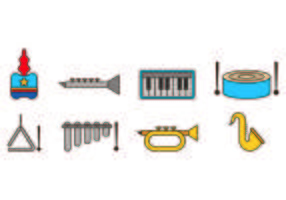 Set von Marching Band Icons