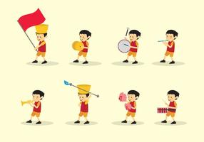 Pojke Marching Band Vector