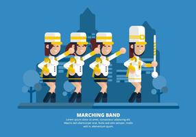 Marching Band Illustration
