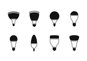 Ícones de vetor de lâmpada