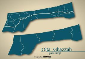 Mappa vettoriale Palestina Gaza Strip Country