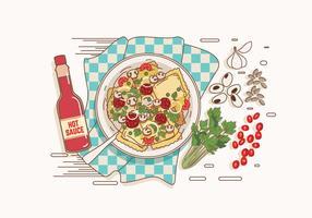 Ravioli en un vector del tazón de fuente