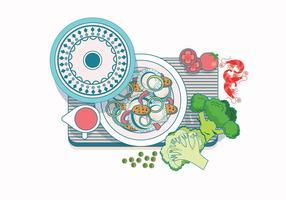 Vecteur de raviolis