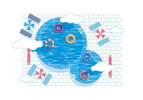 Innertube in the Pool Vector