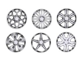 Car Alloy Wheel Set vector
