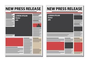 Nieuwe Persbericht Papier Vector