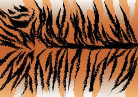 Vetor selvagem da listra do tigre