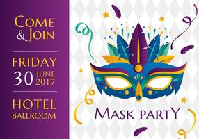 Mask Party Template Free Vector