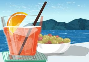 Drinking Spritz on the Beach Vector