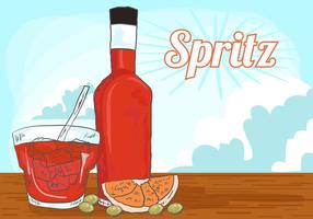 Vector Orange Spritz Background