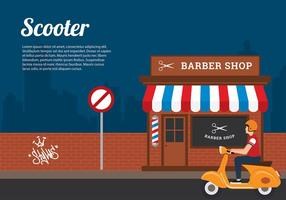 Lambretta illustration free vector