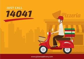 Scooter pizzeria free vector
